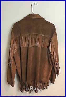 Real Original 1960s Vintage Fringe Suede Hippie Jacket Western Coat Nice