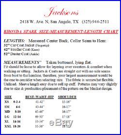 Rhonda Stark Dakota 52 Duster Coat Native American Blanket Concho Buttons New