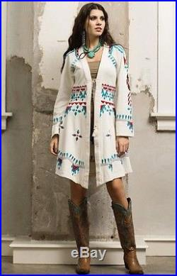 Roja Coachella Western Cheyenne Southwestern Embroidered Duster Cover up Jacket