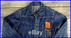 Roy Rogers Jean Jacket Rider Coat Sear Roebuck Childs Denim Cowboy Western VTG