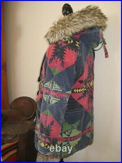 S Men RALPH LAUREN Ski PARKA Indian AZTEC Coat DENIM & SUPPLY Jacket vtg Women