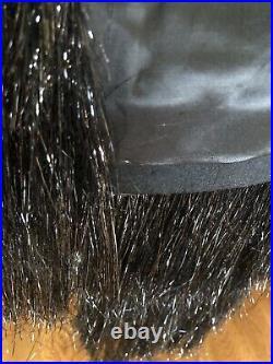 SAINT LAURENT jacket ICONIC coat YSL designer FR36 FR38 US 6 black fringe fur