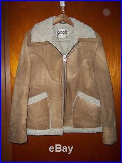 SCHOTT LEATHER JACKET Western Rancher Style Full Zip Size 40