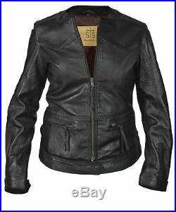 STS Ranchwear Douglas Western MC Leather Biker Jacket Slim fit LARGE, MSRP $329