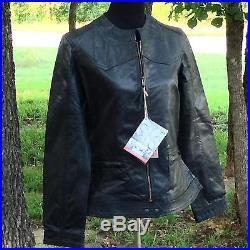 STS Ranchwear Women's Size XL, Western MC Biker Jacket Slim Fit Black