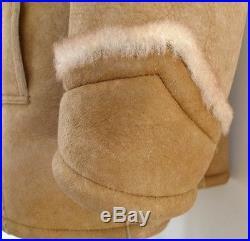 SUPERB LAKELAND Marlboro MAN SHEEPSKIN Shearling COAT Jacket 42 WESTERN Rancher