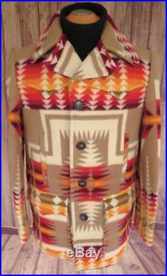 SUPERB PENDLETON Chief JOSEPH WESTERN Wear WOOL BLANKET JACKET Coat NAVAJO LG