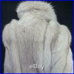 Saga Foxsz Lvintage Off White Blonde Beige Genuine Real Fox Fur Coat Jacket