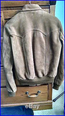 Saint Laurent Paris SS16 Suede Western Flight Jacket (Size 44 BNWT)