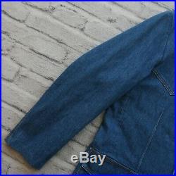 Sample Levis LVC Denim Western Blazer Coat Size M Jacket Orange Tab Tag