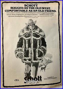 Schott Shearling 212 Mountain Deluxe Coat Pelzmantel Lederjacke Leather Jacket L
