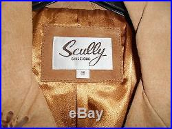 Scully Hand Laced Bead Trim Fringe Western Coat (Beaded Shoulder Strips) Size 38