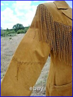 Scully Leather Fringed Western Coat Size 8