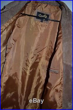 Scully MENS FRINGED BROWN SUEDE LEATHER LONG JACKET COAT WESTERN SZ L $469