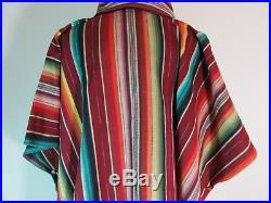 SilveradoSanta Fe/Mexican/Western StyleMAROON SerapeLarge Cowl Neck Poncho