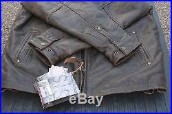 StS Ranchwear Western Jacket Mens Leather Rifleman Brown STS5473 Medium