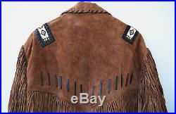 Stars & Stripes, Westernjacke, XXL, Trapperjacke, Country, Cowboy, Wildleder