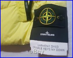 Stone Island Weste NEU Gr. L Large gelb CRINKLE REPS NY DOWN Daunenweste