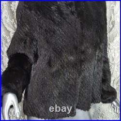 Stunning Vintage Sz M/lgenuine Real Black Brown Ranch Mahogany Mink Fur Coat