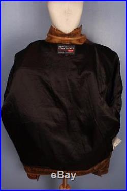 Superb Vtg LEVIS STRAUS Brown Leather Motorcycle Jacket Western XL