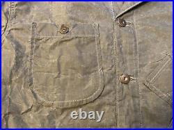 TELLASON British Waxed Canvas Lined Coverall Jacket Grey USA Chore Coat Medium