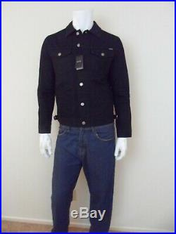 Tom Ford Mens NWT Authentic Icon Selvedge Denim Jean Western Black Jacket Size M