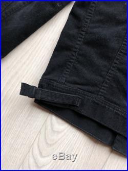 Tom Ford corduroy trucker western black denim jacket Size SMALL