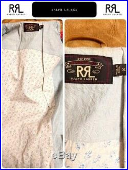 Used RRL Ralph Lauren Suede Leather Native Western Jacket XL Size Rare