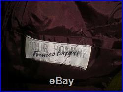 VINTAGE FRANCO CAPPA POUR HOMME FRANCE WESTERN GEOMETRIC BLANKET COAT JACKET XL