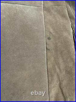 VINTAGE The Leather Shop Sears Suede Ranch Jacket Coat Men 40 Tall Sherpa Lined