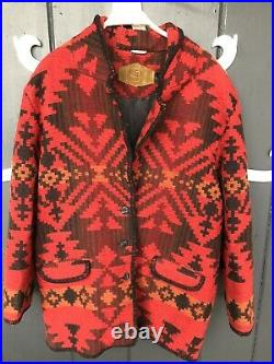 VIntage Woolrich Navajo Blanket Aztec Southwestern Wool Coat Jacket USA Size L