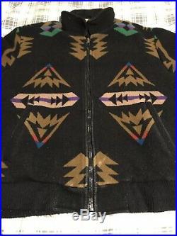 VTG 1960's Pendleton High Grade Western Wear Mens Jacket Wool Blanket Bomber XL