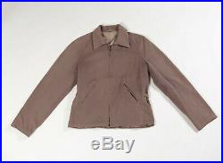 VTG 40's 30's HALF BELT SIDE BUCKLE GABARDINE WESTERN JACKET COAT ALLEN H BAR C