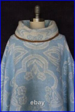 VTG Golden Dawn Pendleton wool Aztec southwest blanket coat jacket cape poncho