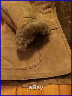 VTG Knight Tailors Leather Jacket Medium Wool Marlboro Shearling Western