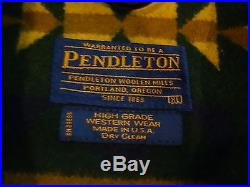 VTG Men's Pendleton Western Wear Southwest Aztec Wool Leather Car Coat Jacket XL