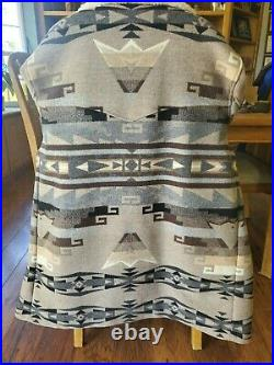 VTG Pendleton High Grade Western Wear Aztec Wool Jacket Size XL Sherpa