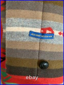 VTG Pendleton High Grade Western Wear Mens Aztec Wool Jacket Size 44 XL Sherpa