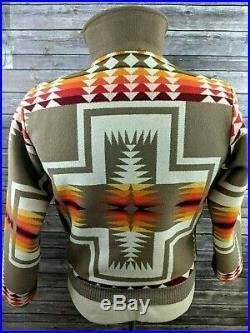 VTG Pendleton High Grade Western Wear Mens Jacket Aztec Indian Size Medium