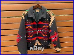 VTG Pendleton High Grade Western Wear Native American Style Mens Coat Jacket SzM