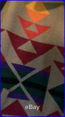 VTG Pendleton High Grade Western Wear Native Blanket Mens Coat Jacket L Vg