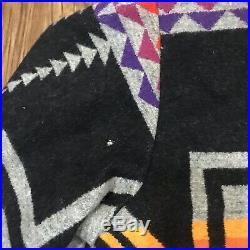 VTG Pendleton High Grade Western Wear Wool Bomber Jacket Medium Aztec Native T5B