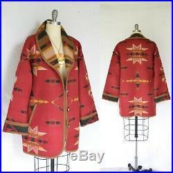 VTG Pendleton Knockabouts wool Aztec southwest Mexican blanket coat jacket ranch
