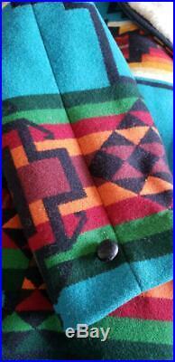 VTG Pendleton Sherpa Western Wear Jacket Native Blanket Coat Sz 42 man or woman