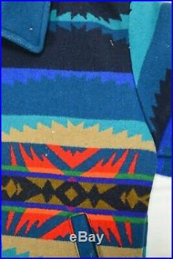 VTG Pendleton Turquoise High Grade Western Wear Mens Jacket Aztec Indian Size S