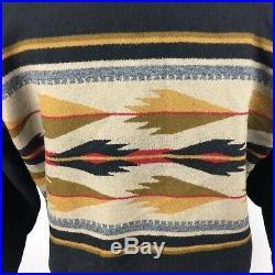 VTG Pendleton Wool USA High Grade Western Mens Aztec Zip Up Jacket sz M 90s