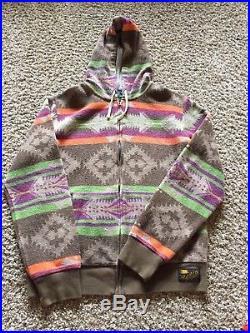 VTG Polo Ralph Lauren 1967 Southwestern Sport Aztec Jacket Hoodie Western Medium