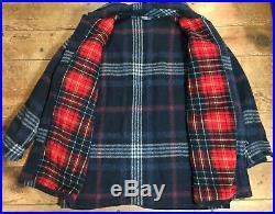 VTG Polo Ralph Lauren PRL Plaid Wool Thistle Hunting Coat Barn Jacket M USA RRL