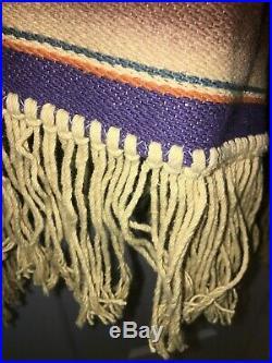 VTG Ralph Lauren Country Southwestern Indian Blanket Serape Poncho Unisex