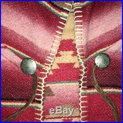 VTG Ralph Lauren Southwestern Indian Blanket Serape Poncho Wool Blend Unisex